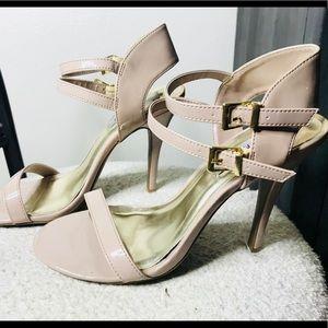 Steve Madden Strappy Pink Patten Leather heels
